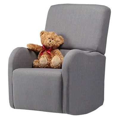 Shermag Luca Upholstered Glider Chair   Gray