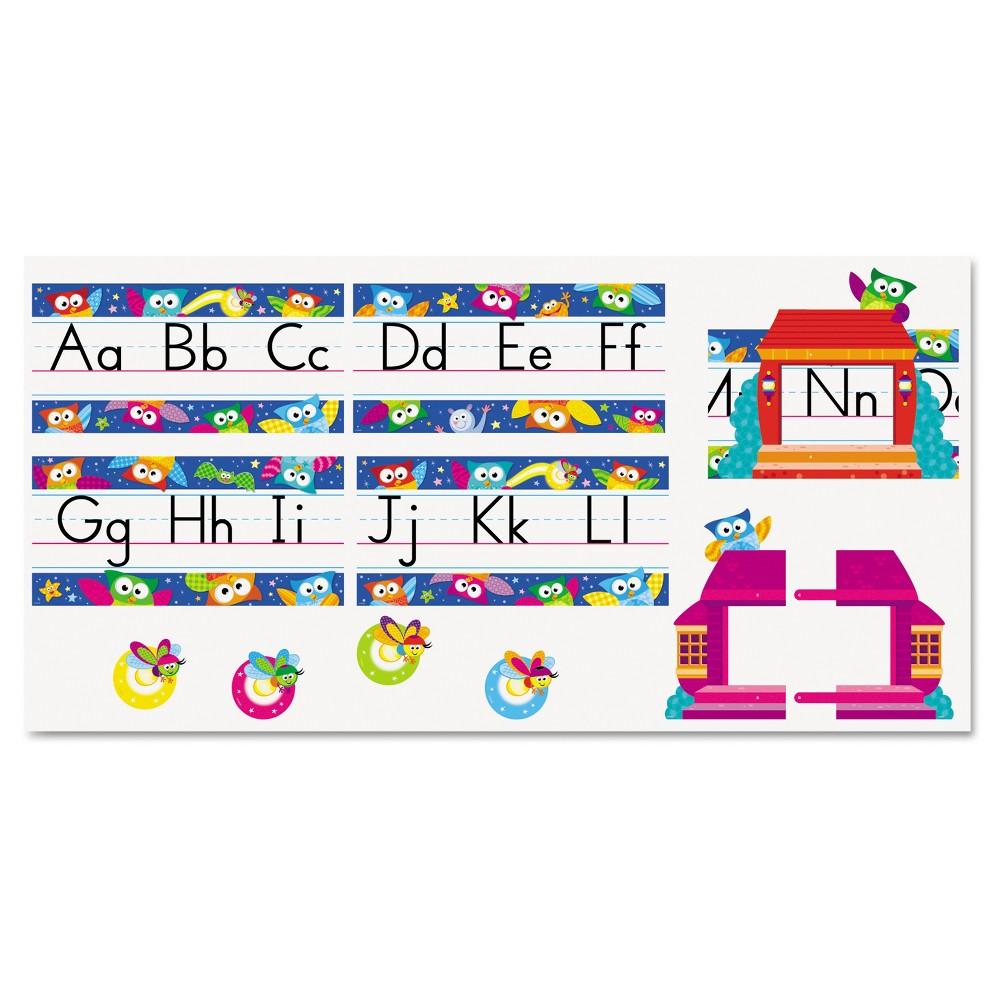 Trend Owl Stars Alphabet Line Bulletin Board Set, 12 3/4 x 8 1/2, 29 pieces, Multi-Colored