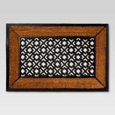 Rubber/Coir Doormat -(23 x35 )- Threshold™