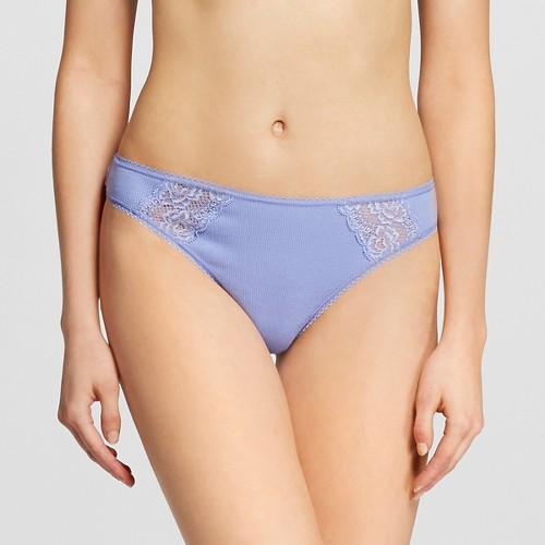 Women's Cotton Thong Deep Periwinkle S