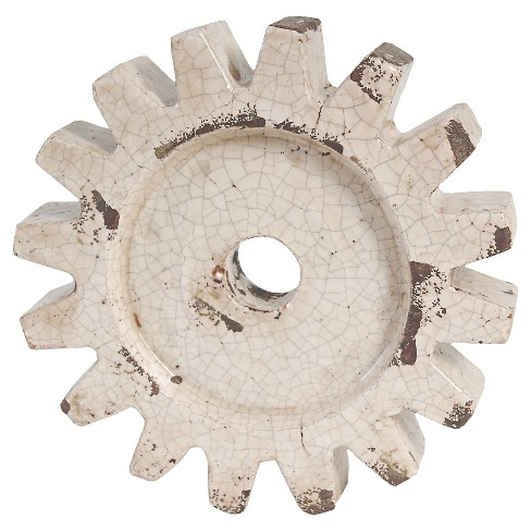 "A&B Home Wheel Décor - Antique White (11 X2.6"") - image 1 of 1"