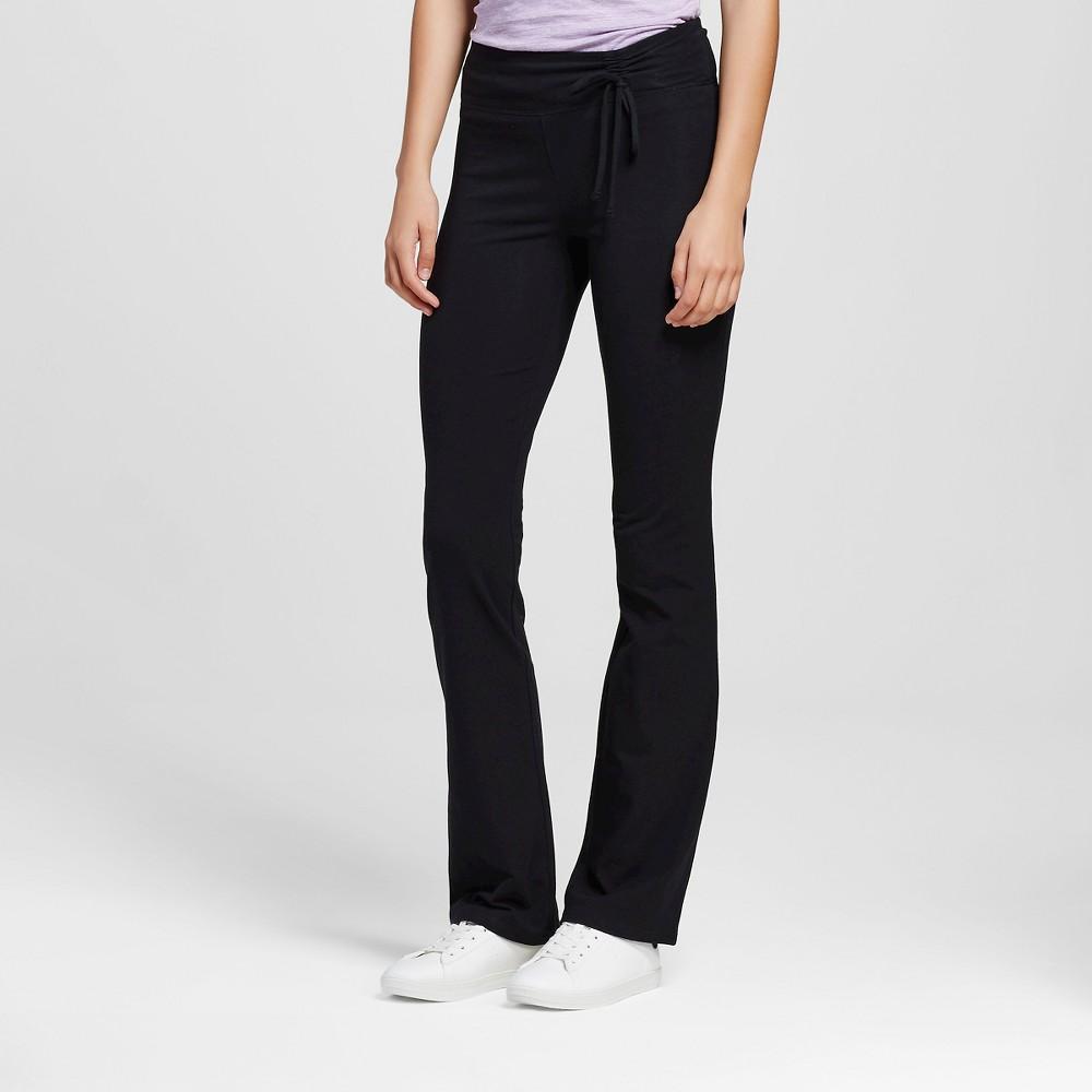 Women's Yoga Tie Waist Pants Black Xxl- Mossimo Supply Co. (Juniors'), Size: Xxl