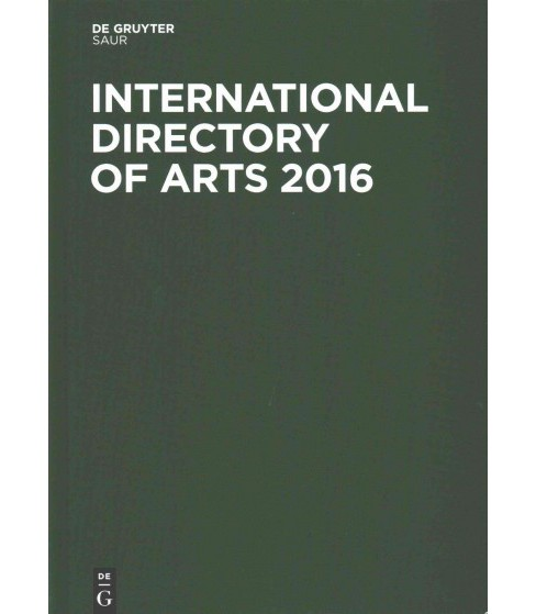 International Directory of Arts 2016 (Hardcover) - image 1 of 1