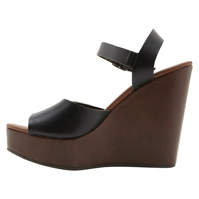 Women's Revel Platform Wrap Wedge Sandals - Black 9