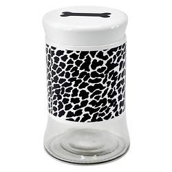 Houseware International Glass Storage Jar Sleeves - Cheetah White