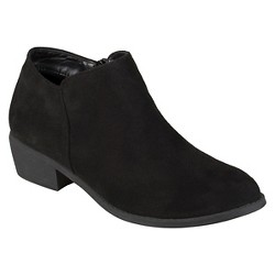 Women's Journee Collection Sun Faux Suede Heeled Booties - Black 7