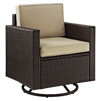 crosley palm harbor outdoor wicker swivel rocker chair - Swivel Rocker Chair