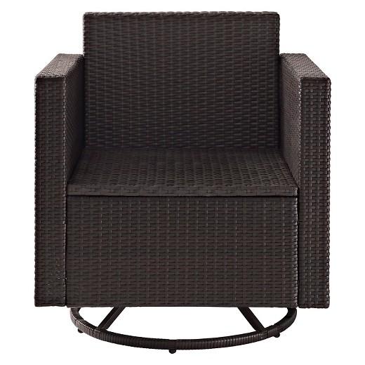 Crosley Palm Harbor Outdoor Wicker Swivel Rocker Chair Tar