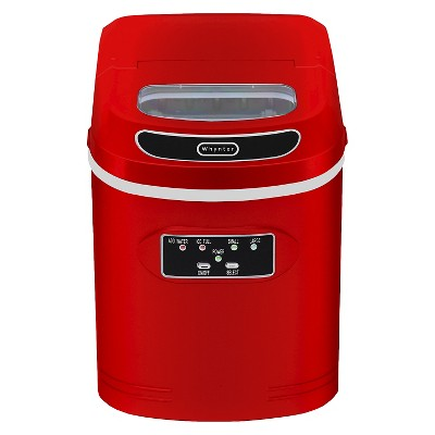 Whynter Compact Portable Ice Maker 27 lb. capacity - Red