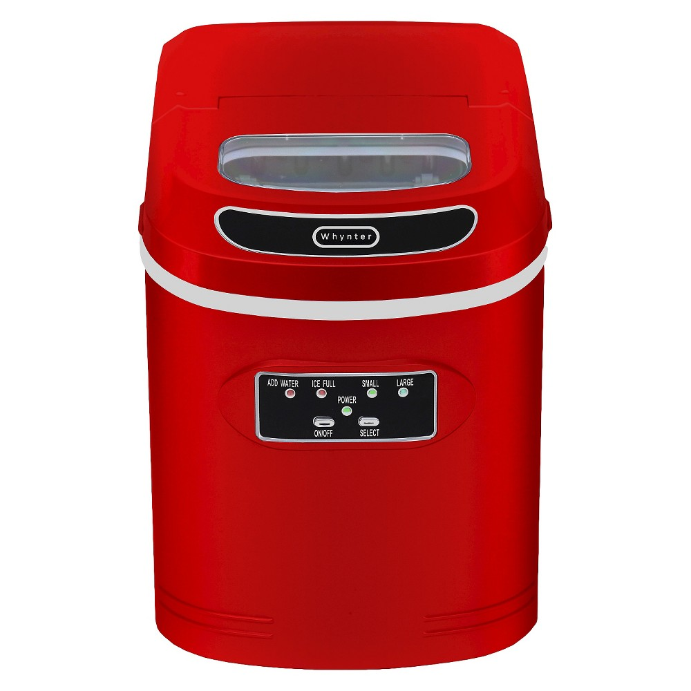 Whynter Compact Portable Ice Maker 27 lb. capacity – Red