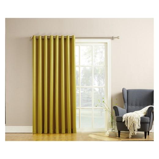 seymour extra wide room darkening curtain panel 100 x84 sun zero target. Black Bedroom Furniture Sets. Home Design Ideas