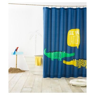 Amazing Alligator Shower Curtain Blue   Pillowfort™