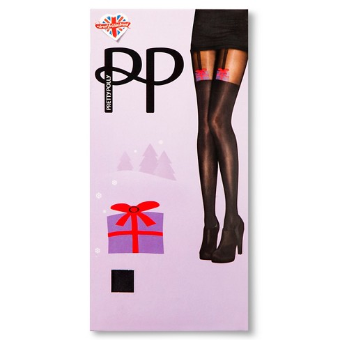 Pretty Polly Women's Holiday Tights - Black One Size - image 1 of 2