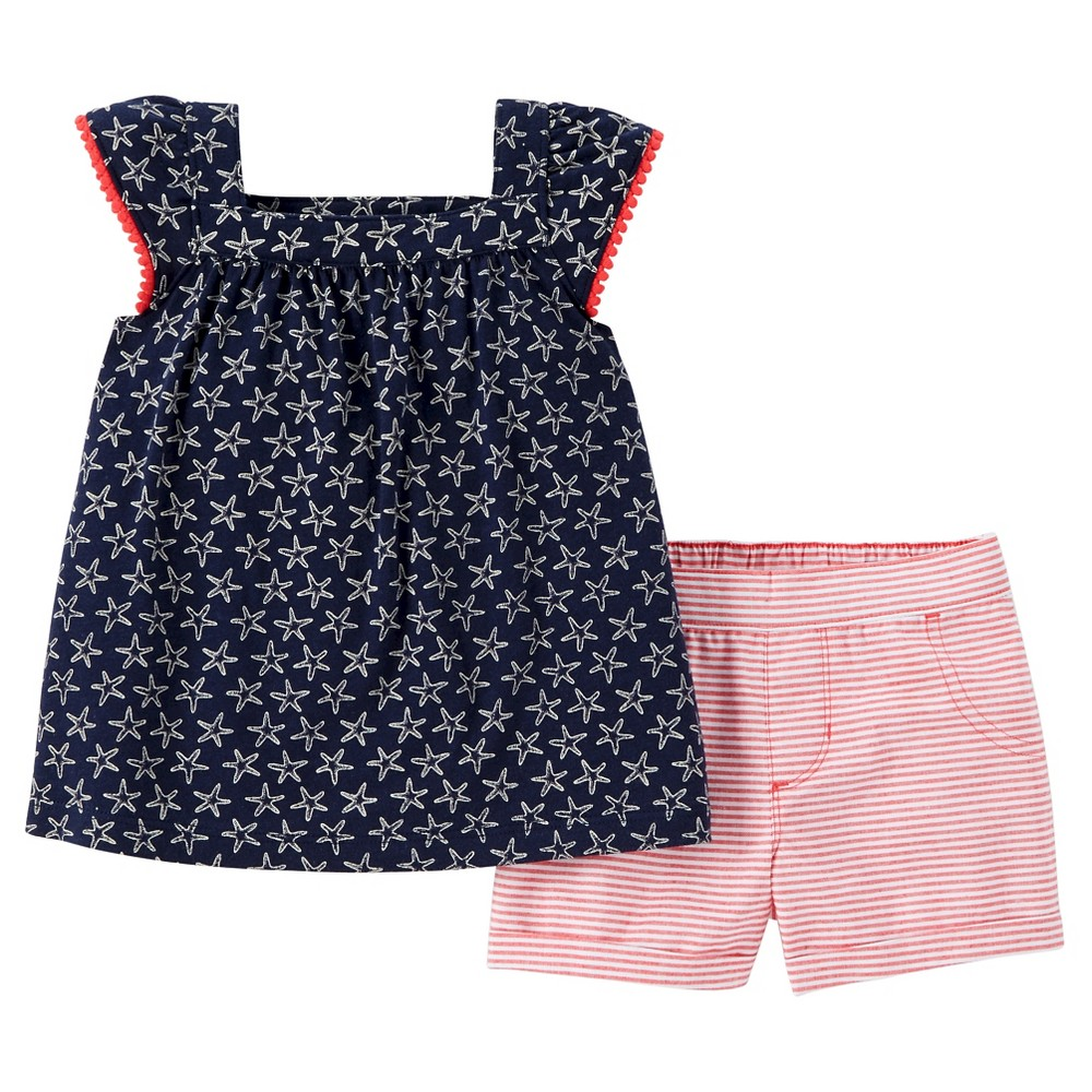 Toddler Girls 2pc Shorts Set - Just One You Made by Carters Navy 6X, Blue