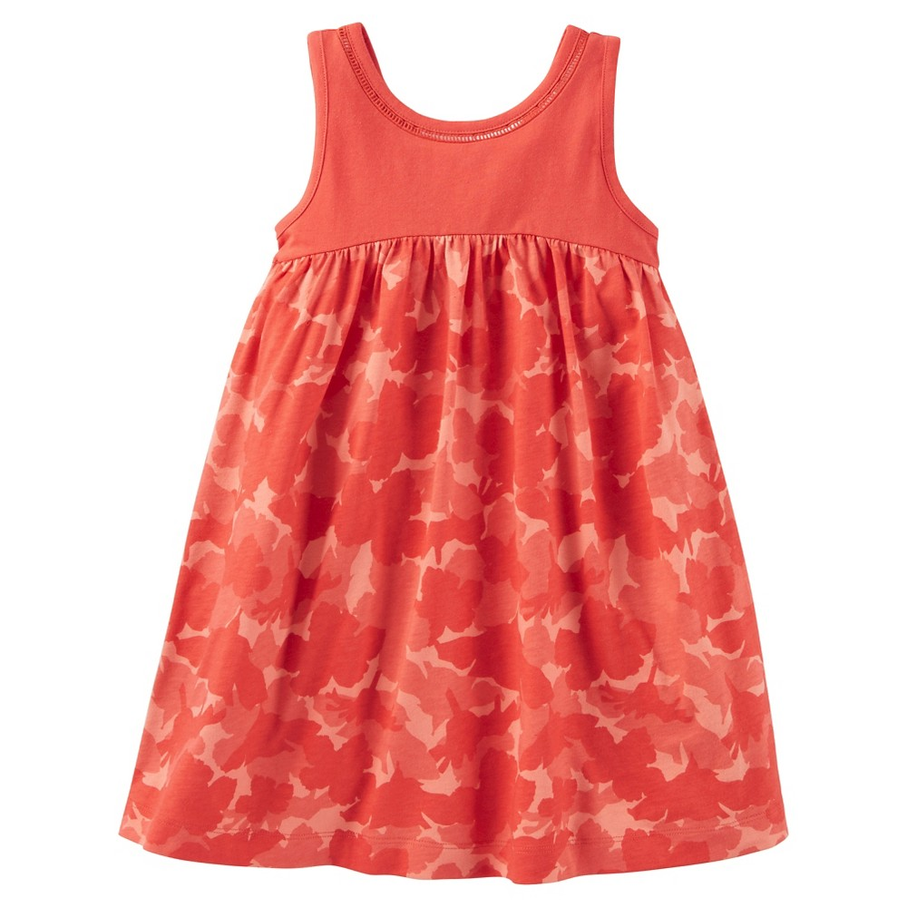 Toddler Girls Tropical Print Dress - Just One You Made by Carters Red 12M, Size: 12 M, Pink