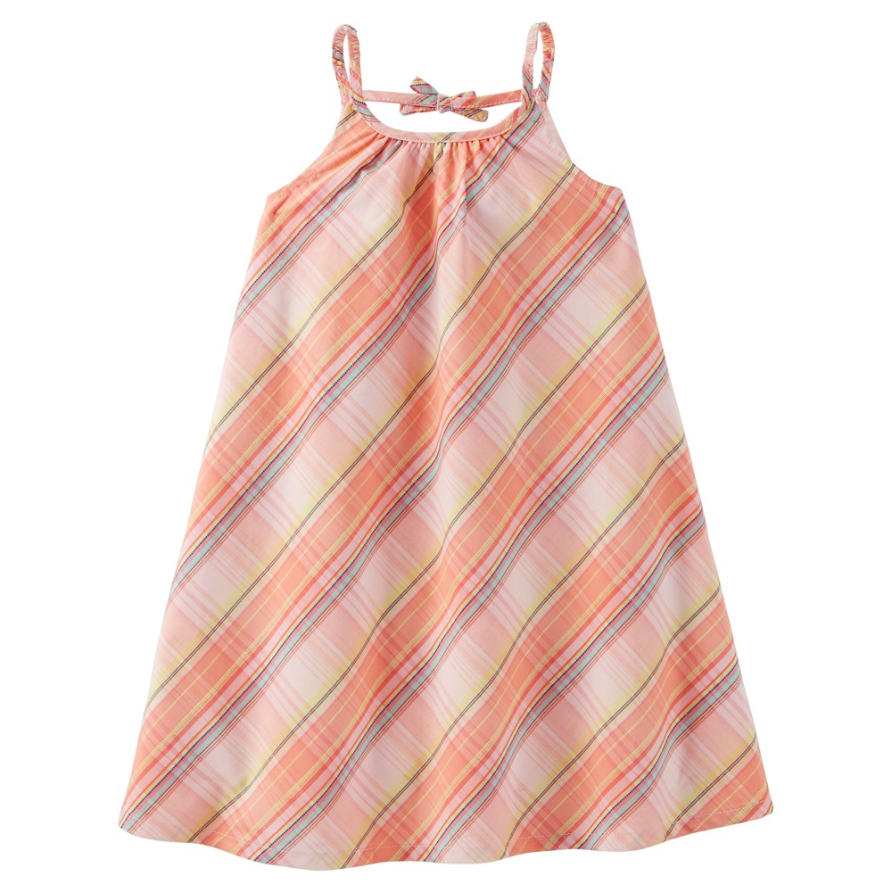 Toddler Girls Plaid Print Dress - Just One You Made by Carters Pink 18M, Size: 18 M