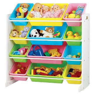 Pastel Toy Organizer - White - Tot Tutors