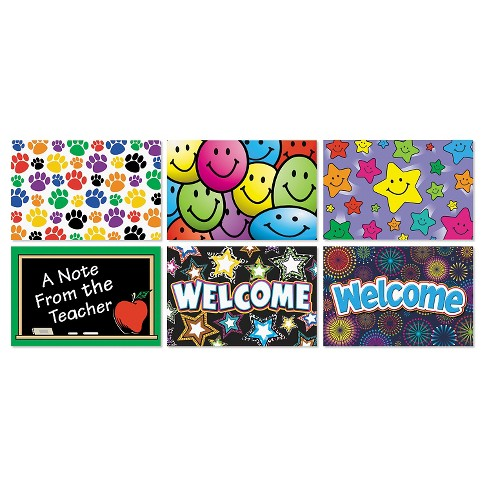 Teacher Created Resources Postcard Pack with 30 Each of Six Designs, 4 x 6, 180 Cards/Pack - image 1 of 1