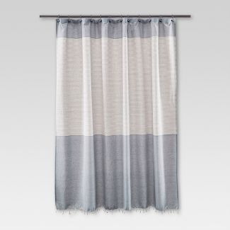 black and white striped shower curtain. Fringe Shower Curtain Stripe Blue  Threshold Bath Target