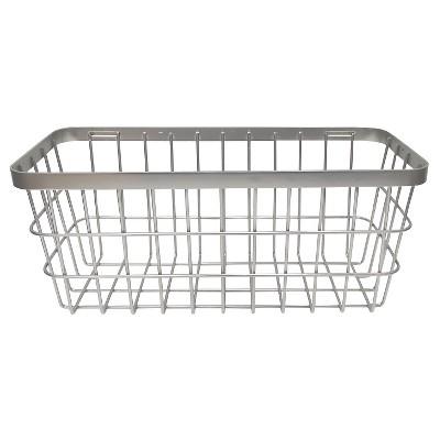 Large Metal Storage Ladder Basket Brushed Nickel - Threshold™