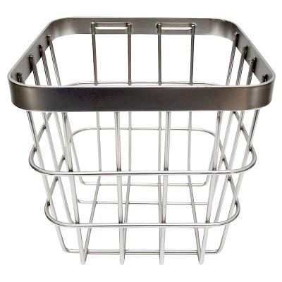 Small Metal Storage Ladder Basket Brushed Nickel - Threshold™