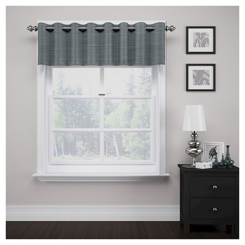 Window Valance Eclipse Stripe Curtain Panel - image 1 of 2