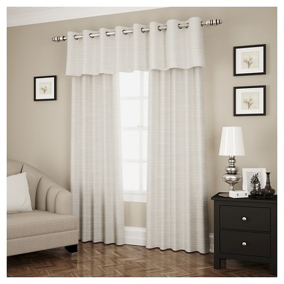 Window Valance Eclipse Marble Stripe Curtain Panel