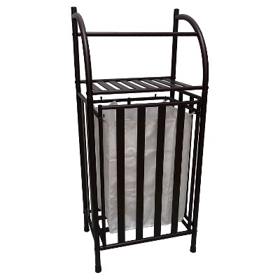 Metal Hamper with Linen Insert Oil Rubbed Bronze - Threshold™