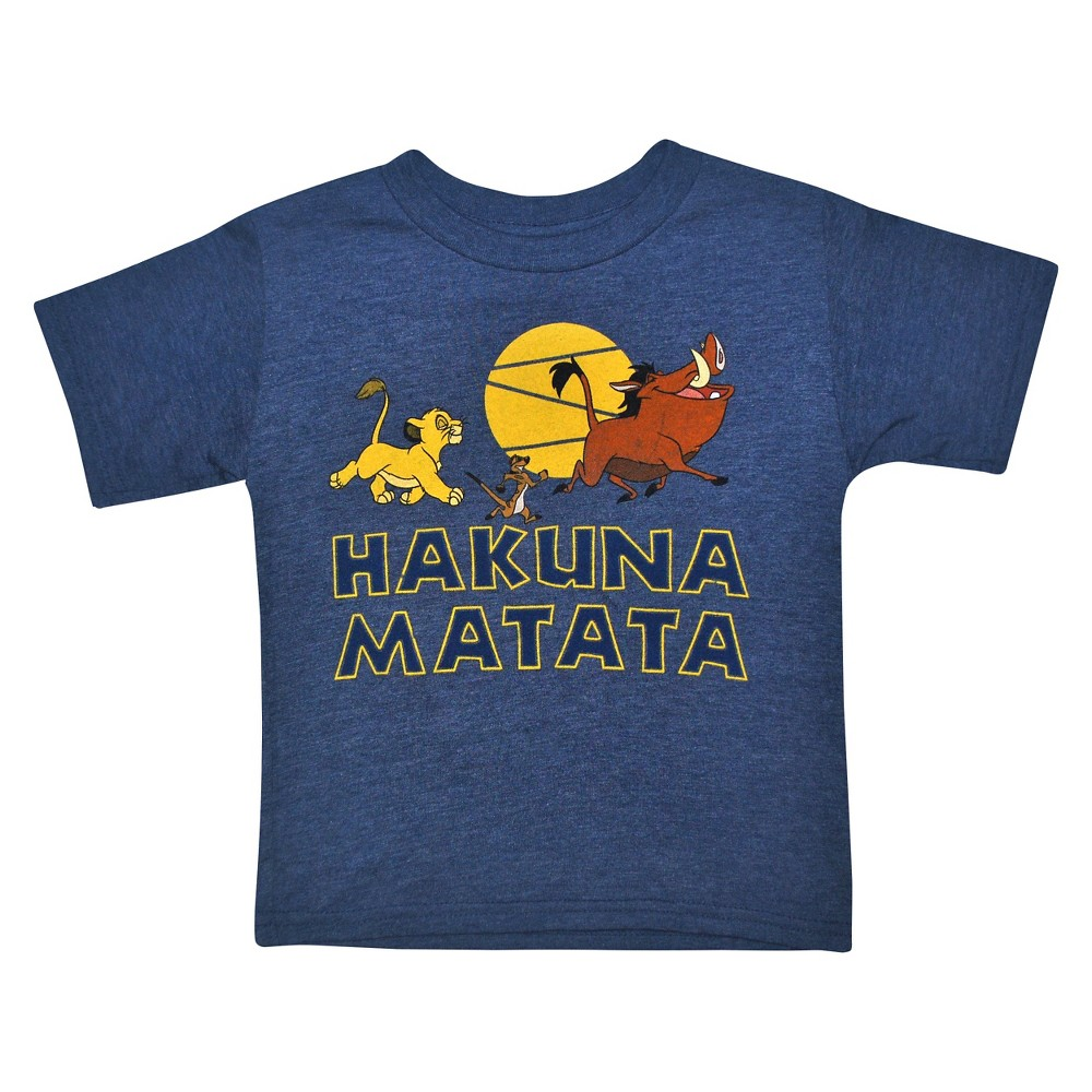 Toddler Boys The Lion King T-Shirt - Navy Heather 3T, Blue