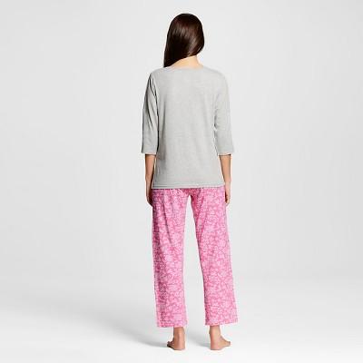 Hanes Premium Women's Henley/Pant Pajama Set - Pink XL
