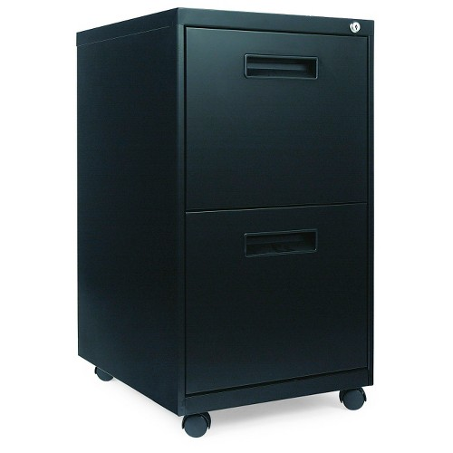 'Alera Vertical Filing Cabinet, 2 drawer, 21.75 x 18'' x 28.75'' - Black'