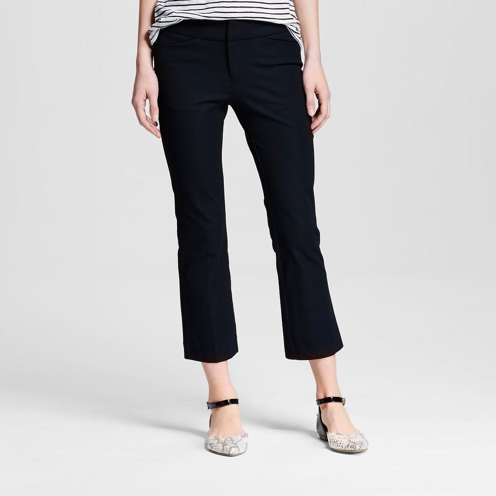 Womens Kick Flare Ankle Pants Black 8 - Merona
