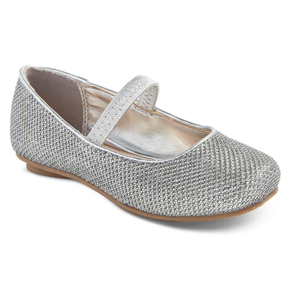 Toddler Girls Birdie Glimmer Ballet Flats Tevolio - Silver 5