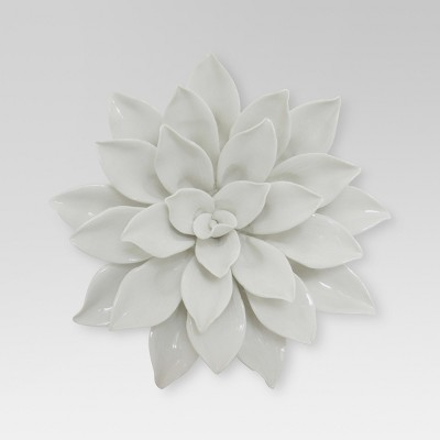 Porcelain Flower Wall Décor 8  - White - Threshold™