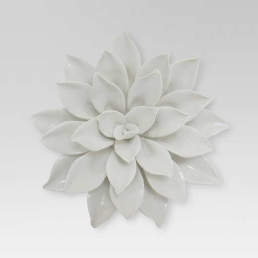 Ceramic Flower Wall Decor Target : Porcelain flower wall d?cor quot white threshold target