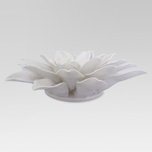 """White Flower Wall Decor porcelain flower wall décor 8"""" - white - threshold™ : target"""