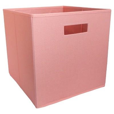 Fabric Cube Storage Bin Coral - Pillowfort™
