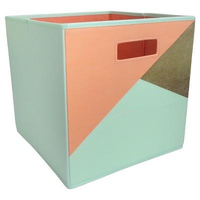 Fabric Cube Storage Bin Mint (13 x13 )- Pillowfort™