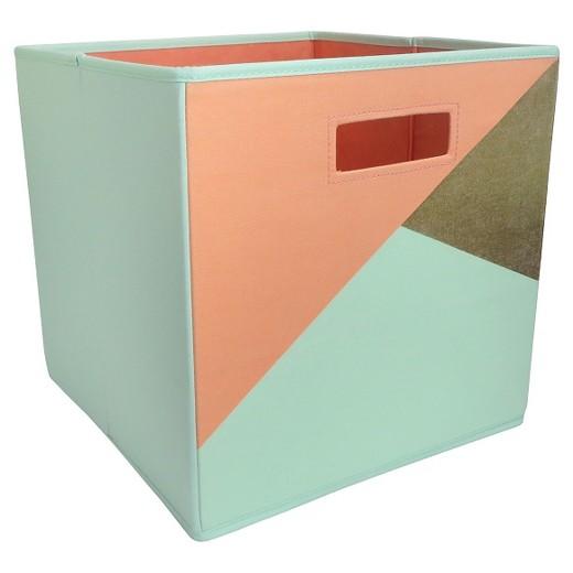 fabric cube storage bin mint 13quotx13quot pillowfort target