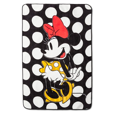 Minnie Mouse® Rock the Dots Blanket - 62 x90  - White&Black
