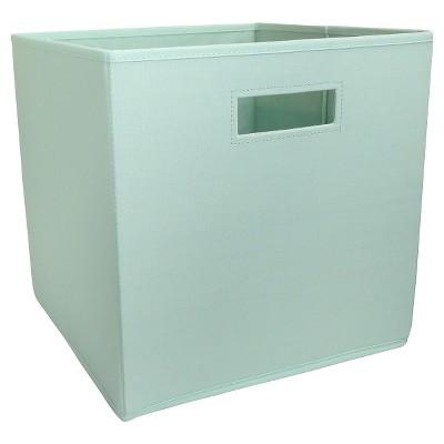 Fabric Cube Storage Bin Mint   Pillowfort™