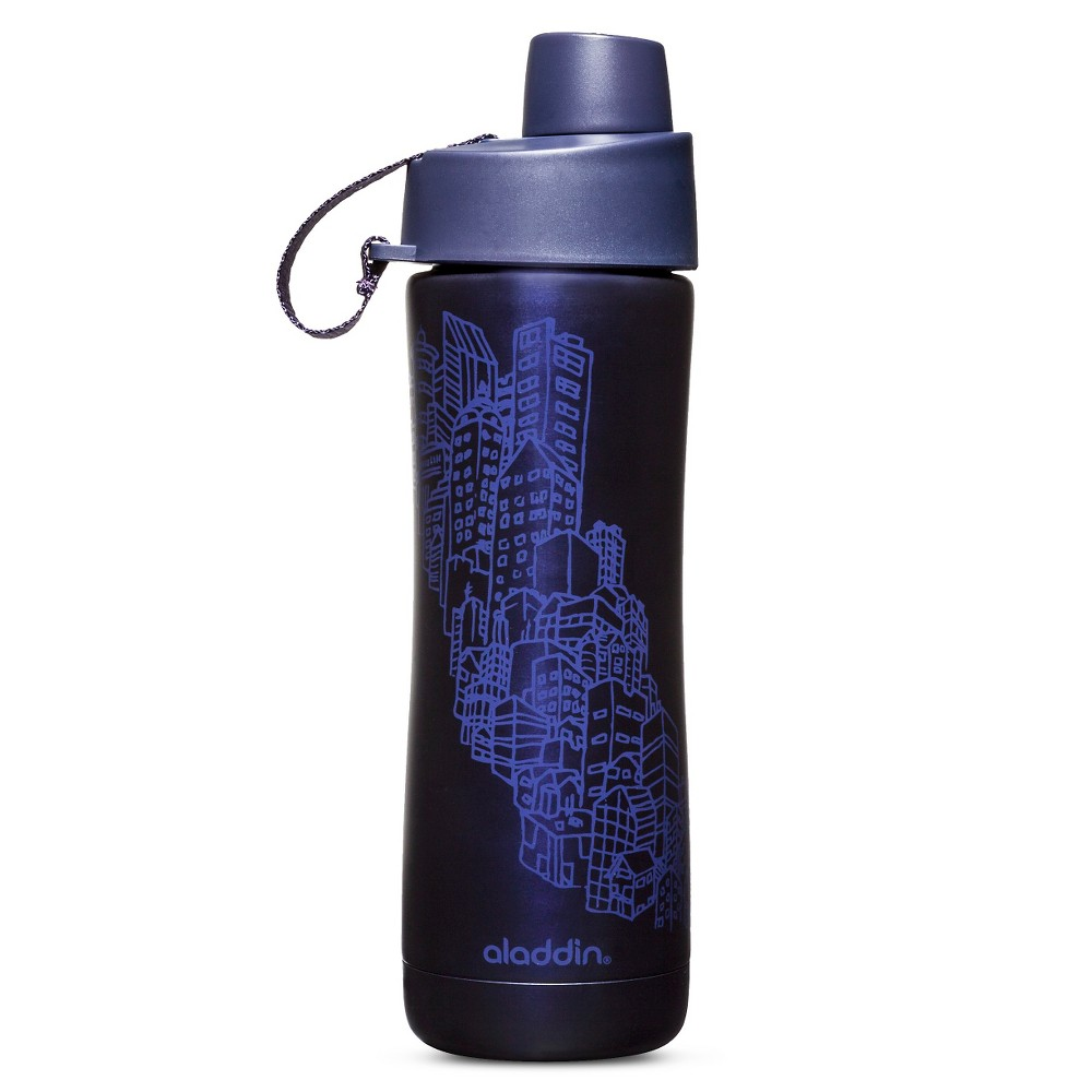 Aladdin Vacuum Insulated 16 oz Water Bottle – Indigo (Blue)