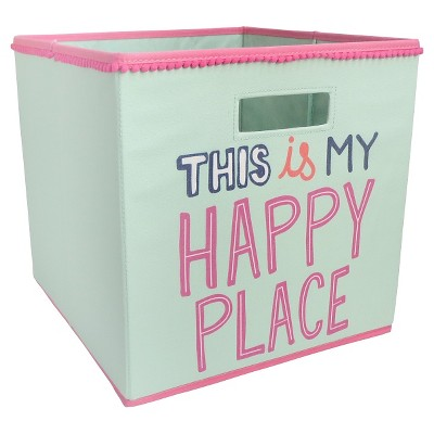 Fabric Cube Storage Bin This is My Happy Place - Pillowfort™