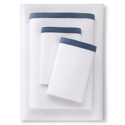 Banded Hem Supima Sheet Set (Queen)Rig Blue - Fieldcrest™