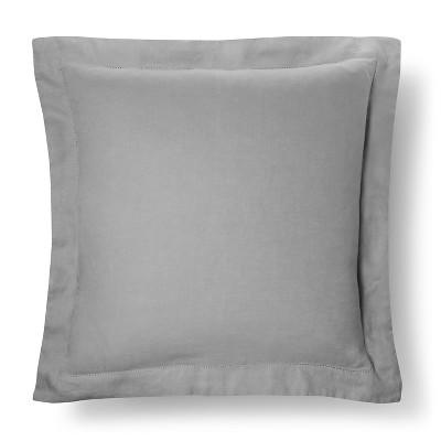 Linen Pillow Sham (Euro)Gray - Fieldcrest™