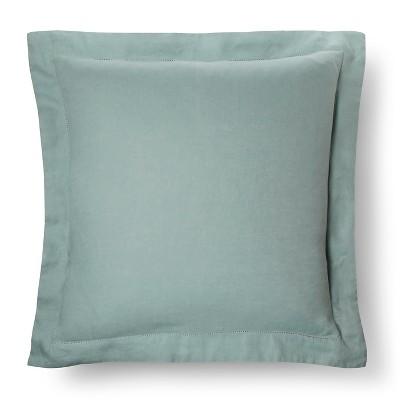 Linen Pillow Sham (Euro)Green - Fieldcrest™