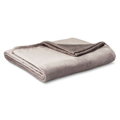 Micromink Blanket Gray (Full/Queen)- Room Essentials™