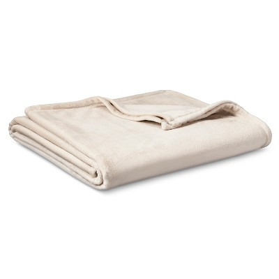 Micromink Blanket Tan (Full/Queen)- Room Essentials™