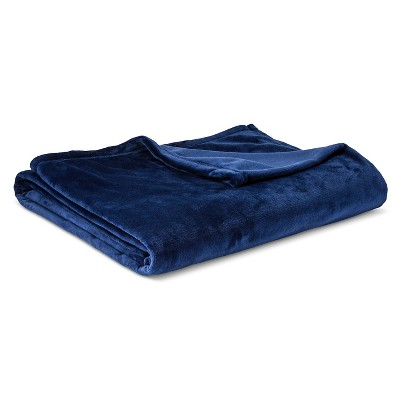 Micromink Blanket Navy (Full/Queen)- Room Essentials™