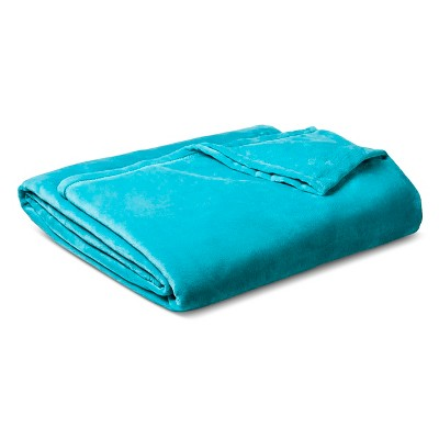 Micromink Blanket Turquoise (Full/Queen)- Room Essentials™